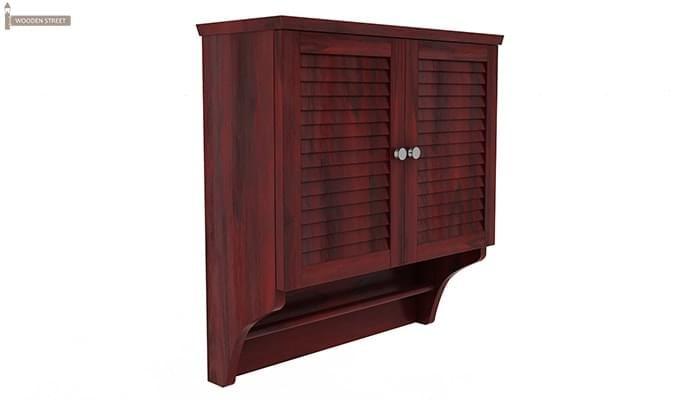 Haney Bathroom Cabinet (Mahogany Finish)-2