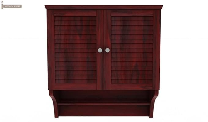 Haney Bathroom Cabinet (Mahogany Finish)-3