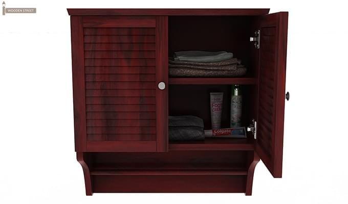 Haney Bathroom Cabinet (Mahogany Finish)-5