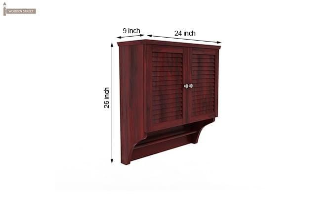 Haney Bathroom Cabinet (Mahogany Finish)-6