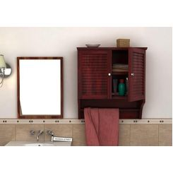 Haney Bathroom Cabinet (Mahogany Finish)