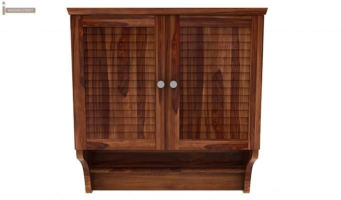 Haney Bathroom Cabinet (Teak Finish)-3