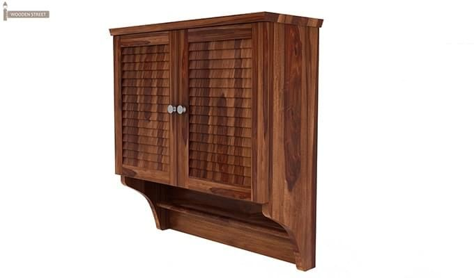 Haney Bathroom Cabinet (Teak Finish)-4