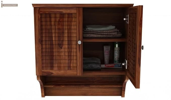 Haney Bathroom Cabinet (Teak Finish)-5