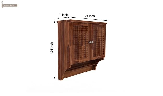 Haney Bathroom Cabinet (Teak Finish)-6