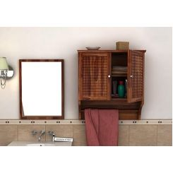 Haney Bathroom Cabinet (Teak Finish)
