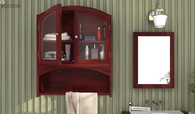 Hendrix Bathroom Cabinet (Mahogany Finish)-1