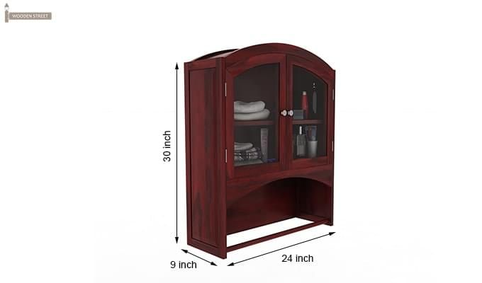 Hendrix Bathroom Cabinet (Mahogany Finish)-6