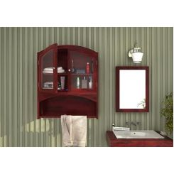 Hendrix Bathroom Cabinet (Mahogany Finish)