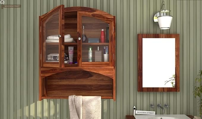 Hendrix Bathroom Cabinet (Teak Finish)-1