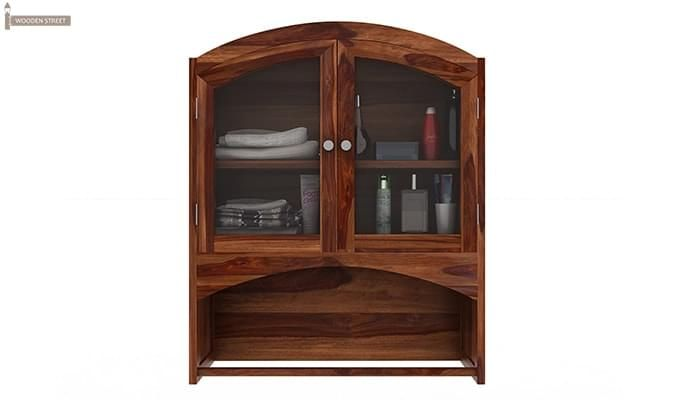 Hendrix Bathroom Cabinet (Teak Finish)-3