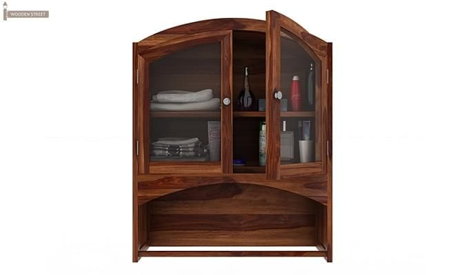 Hendrix Bathroom Cabinet (Teak Finish)-4