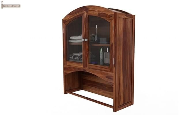 Hendrix Bathroom Cabinet (Teak Finish)-5