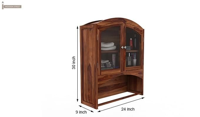 Hendrix Bathroom Cabinet (Teak Finish)-6