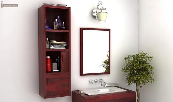 Mcknight Bathroom Cabinet (Mahogany Finish)-1