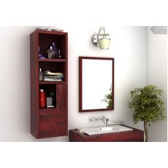 Mcknight Bathroom Cabinet (Mahogany Finish)