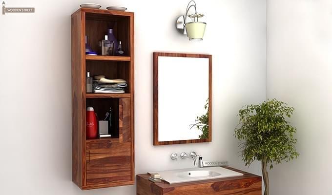 Mcknight Bathroom Cabinet (Teak Finish)-1