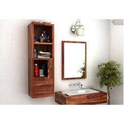Mcknight Bathroom Cabinet (Teak Finish)