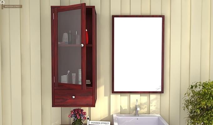 Mcneil Bathroom Cabinet (Mahogany Finish)-1