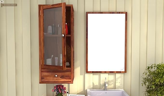 Mcneil Bathroom Cabinet (Teak Finish)-1