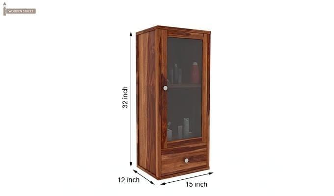 Mcneil Bathroom Cabinet (Teak Finish)-6