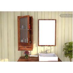 Mcneil Bathroom Cabinet (Teak Finish)