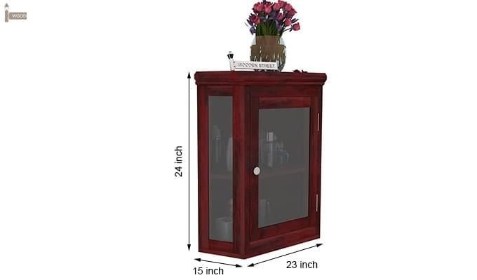 Odom Bathroom Cabinet (Mahogany Finish)-6