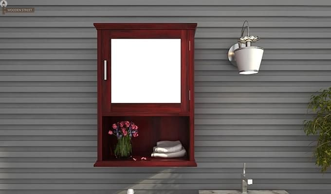 Rowland Bathroom Cabinet (Mahogany Finish)-1