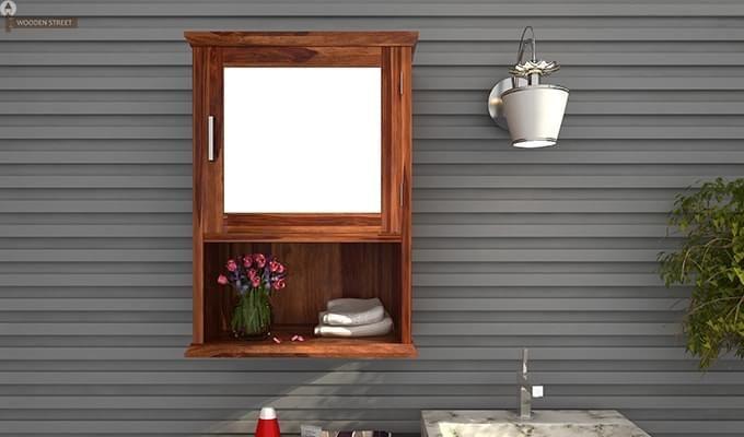 Rowland Bathroom Cabinet (Teak Finish)-1