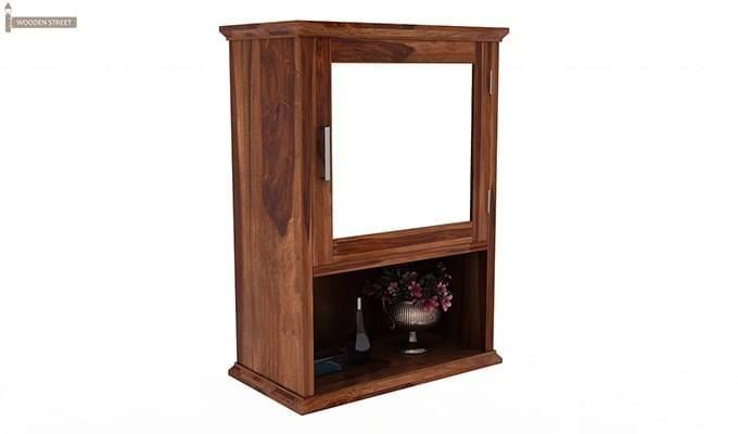 Rowland Bathroom Cabinet (Teak Finish)-2