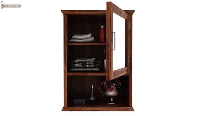 Rowland Bathroom Cabinet (Teak Finish)-4