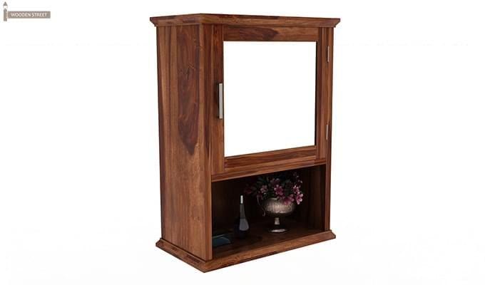 Rowland Bathroom Cabinet (Teak Finish)-5