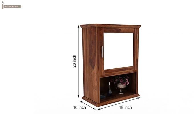 Rowland Bathroom Cabinet (Teak Finish)-6