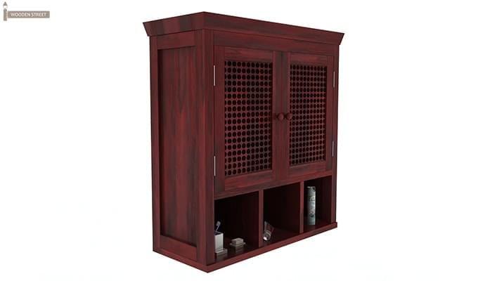 Shea Bathroom Cabinet (Mahogany Finish)-2