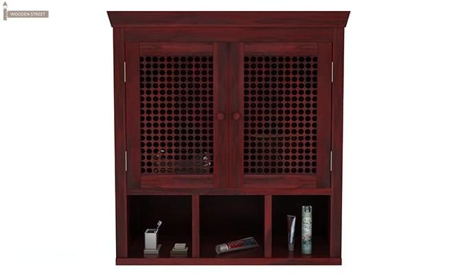 Shea Bathroom Cabinet (Mahogany Finish)-3