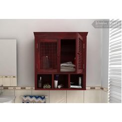 Shea Bathroom Cabinet (Mahogany Finish)