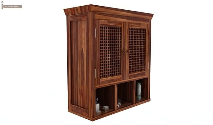 Shea Bathroom Cabinet (Teak Finish)-2