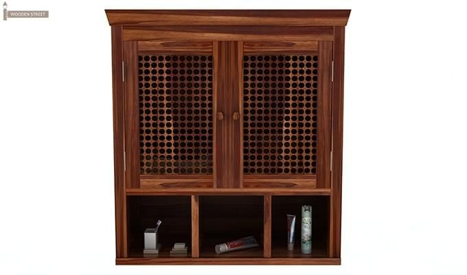 Shea Bathroom Cabinet (Teak Finish)-3