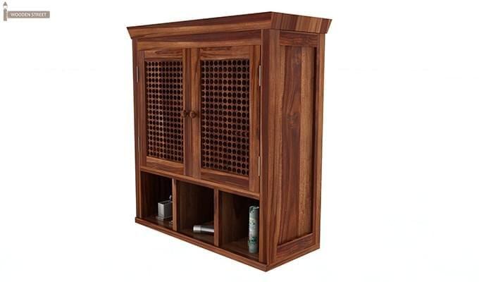 Shea Bathroom Cabinet (Teak Finish)-4