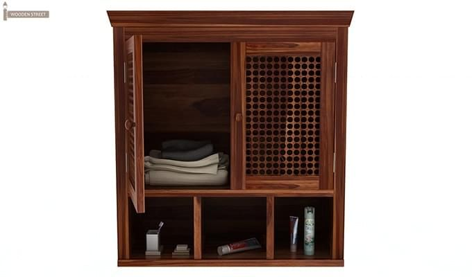Shea Bathroom Cabinet (Teak Finish)-5