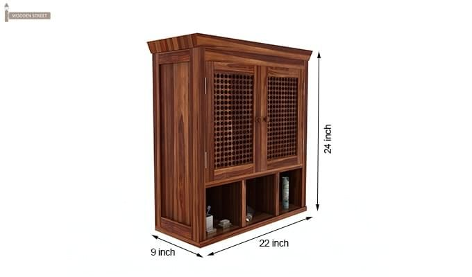 Shea Bathroom Cabinet (Teak Finish)-6