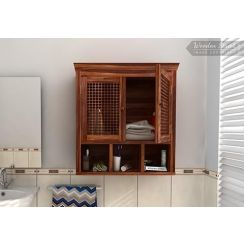 Shea Bathroom Cabinet (Teak Finish)