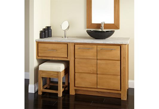 Wooden Bathroom Vanities Online (Honey Finish)