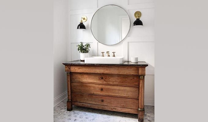Eclair Bathroom Vanities (Teak Finish)-1