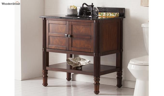 Emblem Bathroom Vanities (Walnut Finish)-2