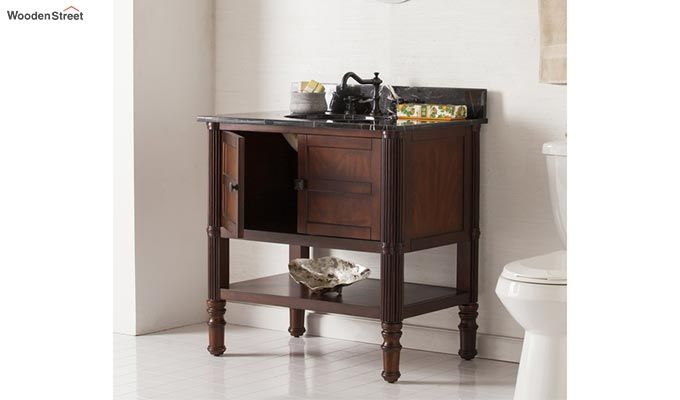 Emblem Bathroom Vanities (Walnut Finish)-1