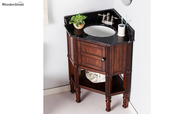 Pollux Bathroom Vanities (Walnut Finish)-1