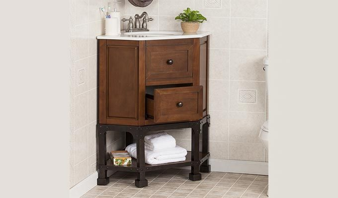 Vision Bathroom Vanities (Walnut Finish)-1