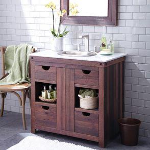 Wanda Bathroom Vanities Walnut Finish
