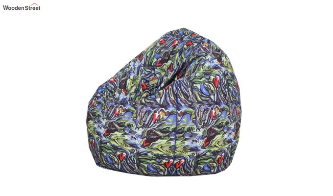 Abstract Printed Organic Cotton Bean Bag Cover-1